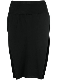 Rick Owens side slits skirt