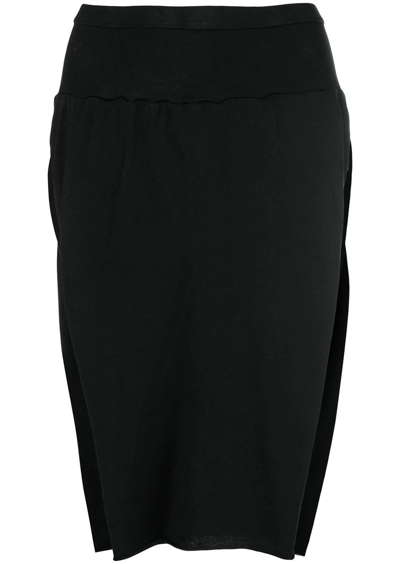 Rick Owens side slits skirt