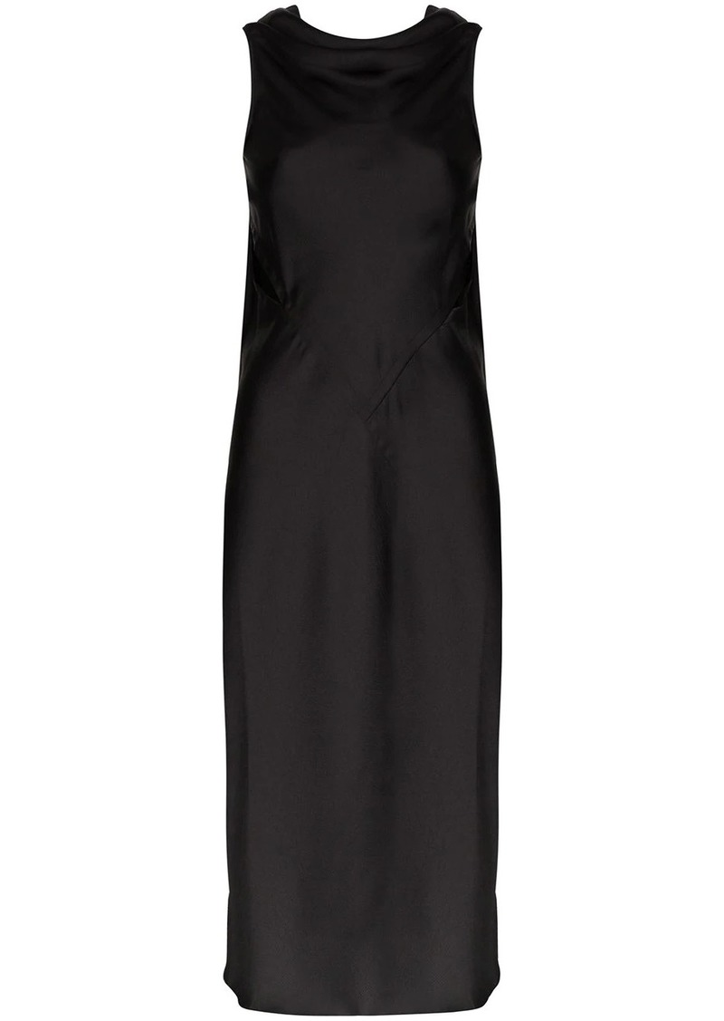 Rick Owens Skorpios cutout satin midi dress