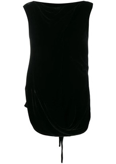 Rick Owens slash neck blouse