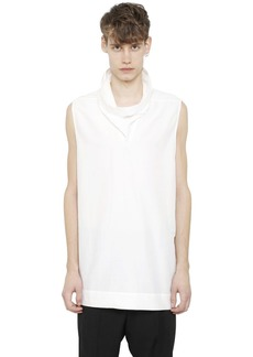 Rick Owens Sleeveless Cotton & Silk Poplin Shirt