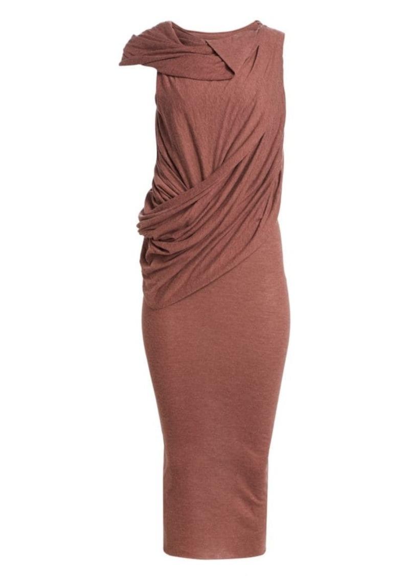 Rick Owens Sleeveless Draped Midi Dress