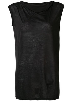 Rick Owens sleeveless fitted sweater