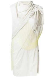 Rick Owens sleeveless fringe overlay top