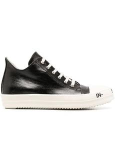Rick Owens slogan-sole sneakers
