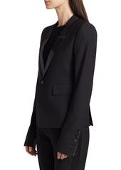 Rick Owens Soft Wool-Blend Blazer