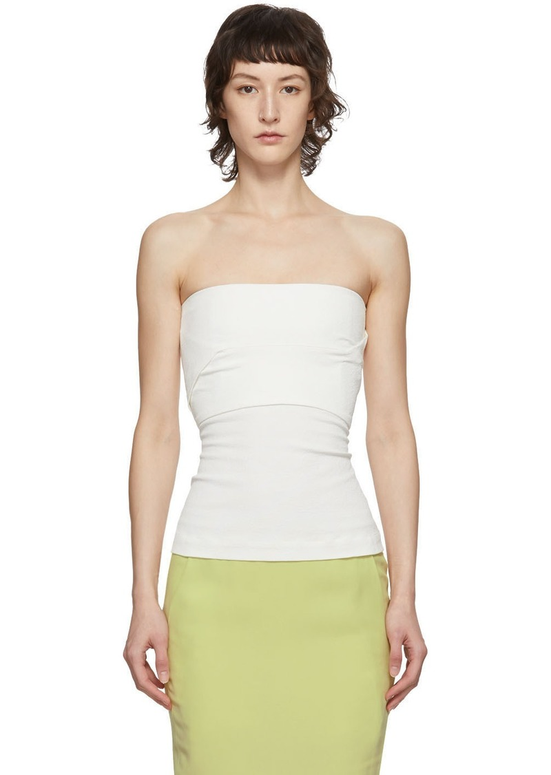 Rick Owens SSENSE Exclusive White Cotton Bustier