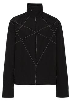 Rick Owens stitch detail high collar jacket