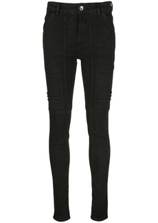 Rick Owens stitched panels skinny jeans