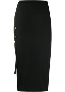 Rick Owens strap detail pencil skirt