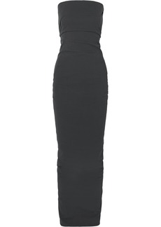 Rick Owens Strapless Cotton-blend Crepe Maxi Dress