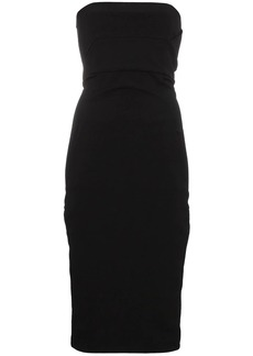 Rick Owens strapless fitted mid-length dress