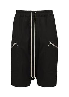 Rick Owens Stretch Cotton Canvas Pods Shorts