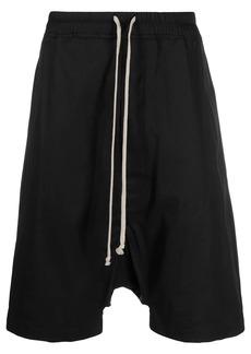 Rick Owens stretch-cotton drop-crotch shorts