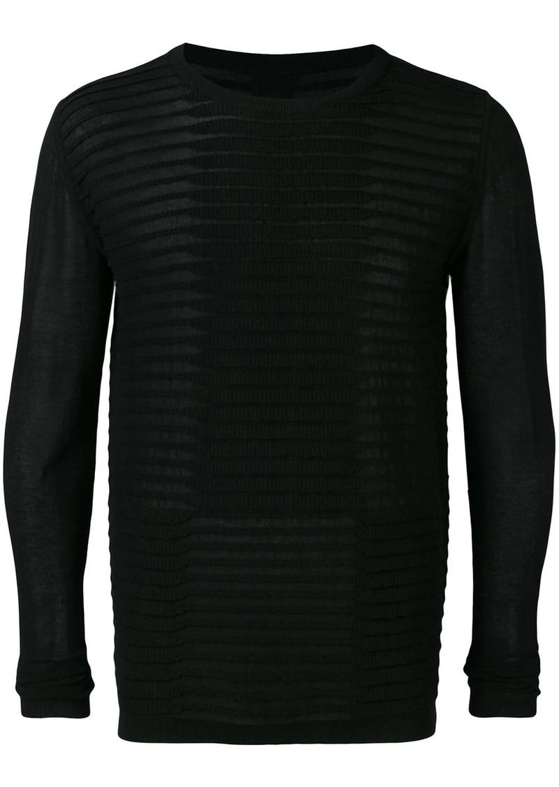 Rick Owens stripe stitch sweater