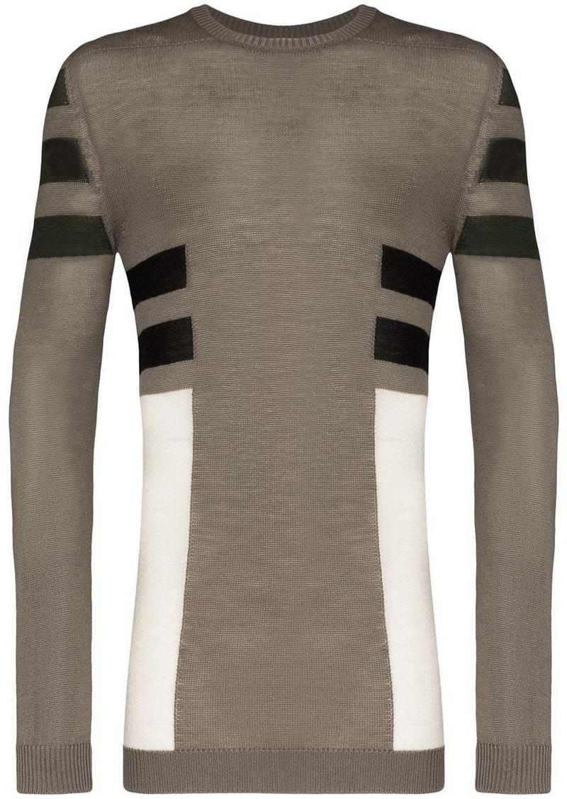 Rick Owens contrast stripe jumper