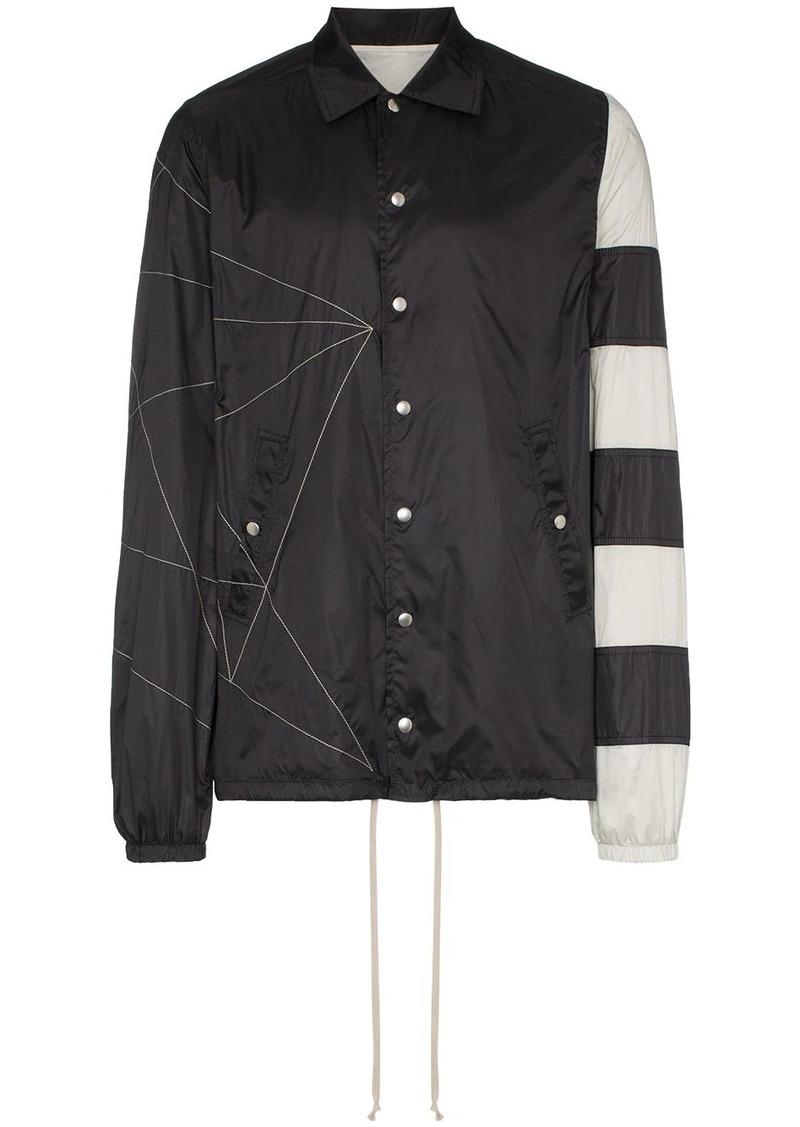 Rick Owens Striped windbreaker jacket