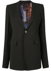 Rick Owens structured style slit detail blazer