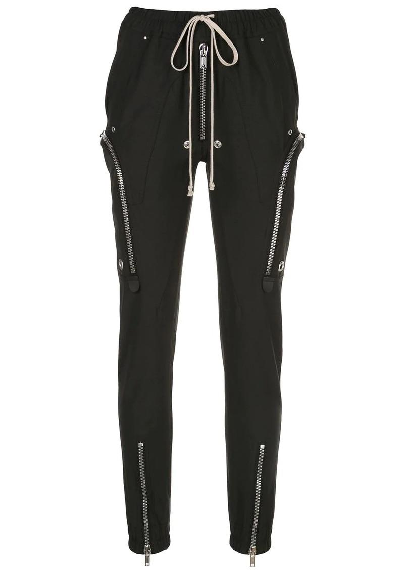 Rick Owens tapered leg zip pocket trousers
