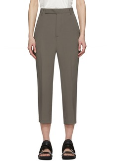 Rick Owens Taupe Easy Astaires Trouers