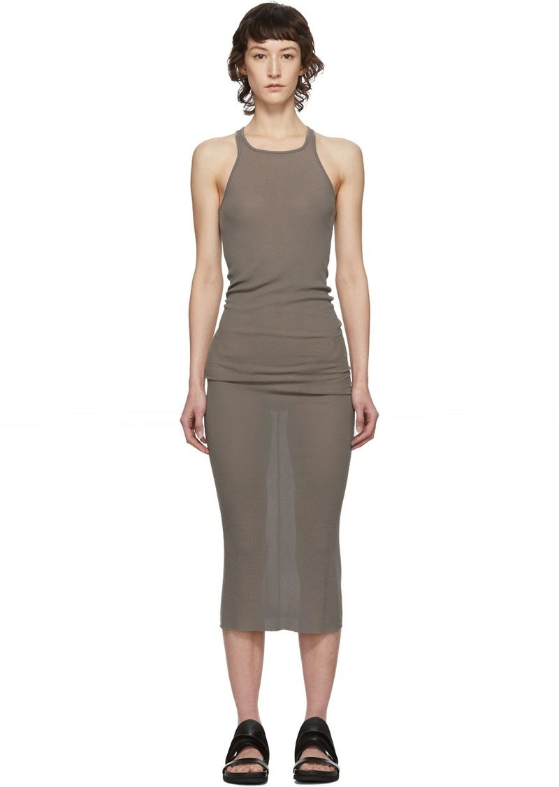 Rick Owens Taupe Tank Dress