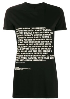 Rick Owens text print T-shirt