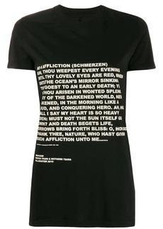 Rick Owens text print T-shirt