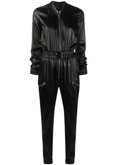 Rick Owens textured style front zip jumpsuit