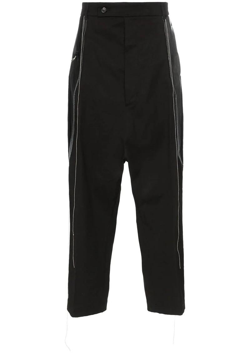 Rick Owens thread detail cotton trousers