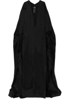 Rick Owens Tulle-trimmed Taffeta Gown