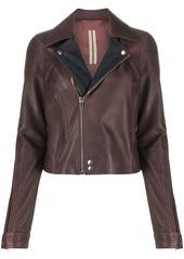 Rick Owens two-tone biker jacket