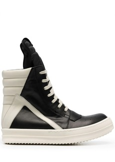Rick Owens two-tone lace-up sneakers