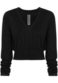 Rick Owens v-neck cropped sweater
