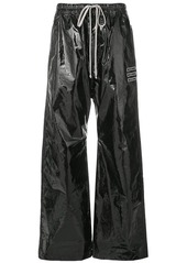Rick Owens varnished flared loose trousers