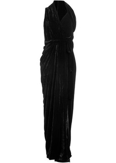 Rick Owens Velvet and Silk Dress