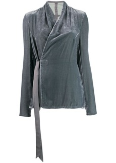 Rick Owens velvet wrap blouse