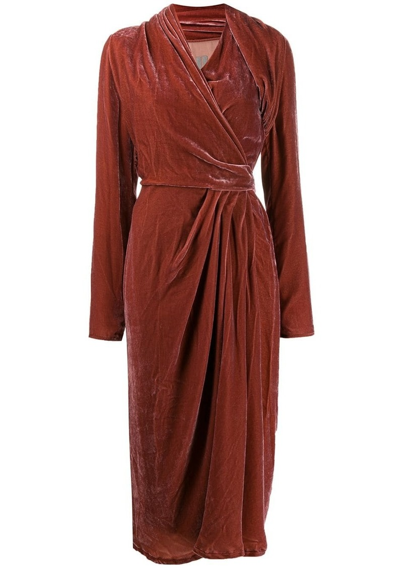 Rick Owens velvet wrap dress