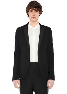 Rick Owens Virgin Wool Crepe Jacket W/ Satin Lapels