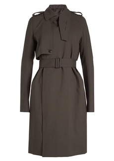 Rick Owens Virgin Wool Trench Coat