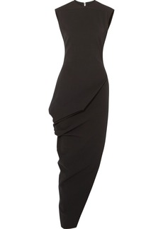 Rick Owens Walrus asymmetric cotton-blend crepe maxi dress