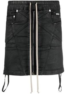 Rick Owens wax-effect stretch mini skirt