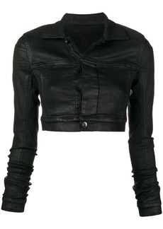 Rick Owens waxed cropped jacket
