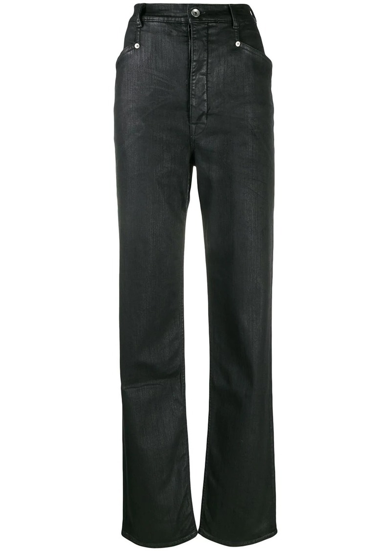 Rick Owens waxed fabric jeans