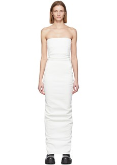 Rick Owens White Bustier Gown
