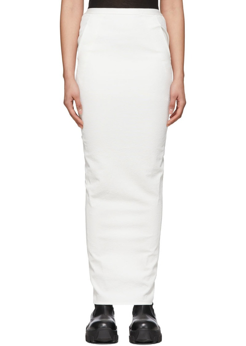 Rick Owens White Pillar Skirt