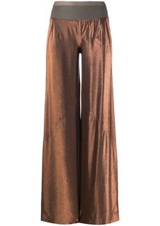 Rick Owens wide-leg metallic trousers