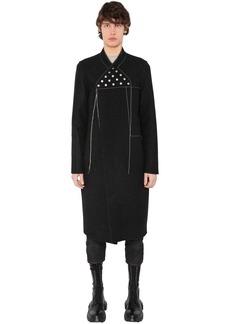 Rick Owens Wool & Linen Blend Long Coat