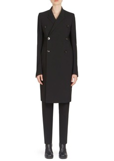 Rick Owens Double-Breasted Peacoat
