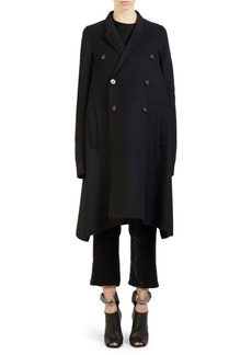 Rick Owens Wool Double-Breasted Trapeze Coat