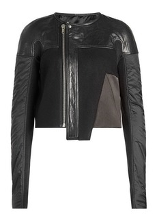 Rick Owens Wool Jacket with Leather